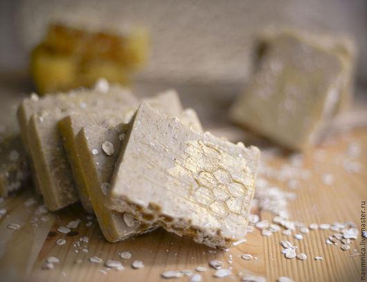 Мыло ручной работы. Ярмарка Мастеров - ручная работа. Купить Натуральное медовое мыло с нуля на овсяном молочке. Handmade. Оранжевый