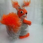 Куклы и игрушки ручной работы. Ярмарка Мастеров - ручная работа Белочка ) рыжая ) зимняя ) белка моя )). Handmade.