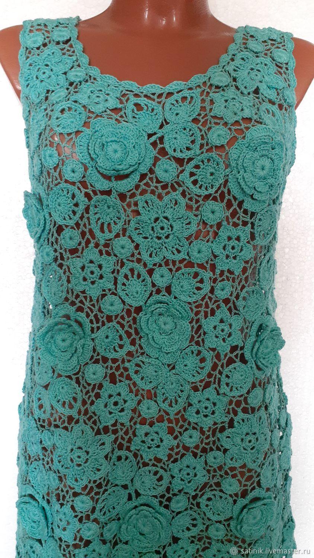 Sundress Irish lace turquoise coolness, Sundresses, Kamyshin,  Фото №1