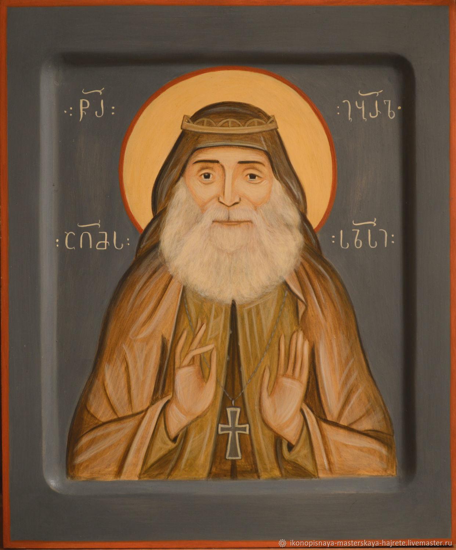 Святой Гавриил (Ургебадзе). Рукописная икона, Иконы, Санкт-Петербург, Фото №1