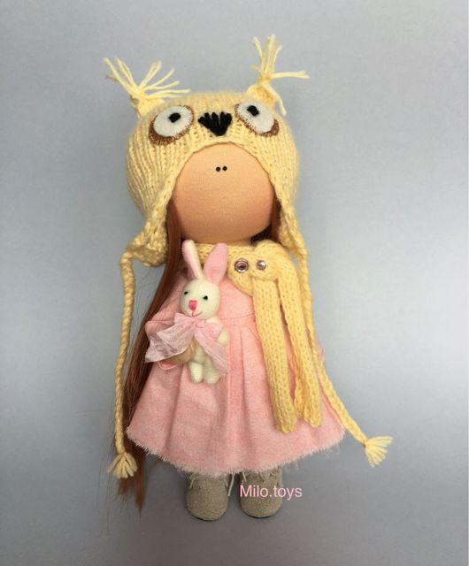 Куклы тыквоголовки ручной работы. Ярмарка Мастеров - ручная работа. Купить Совушка. Интерьерная кукла. Handmade. Комбинированный, интерьерная кукла