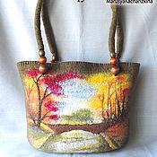 Сумки и аксессуары ручной работы. Ярмарка Мастеров - ручная работа сумка с пейзажем. Handmade.