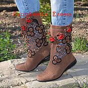 """Обувь ручной работы. Ярмарка Мастеров - ручная работа сапожки летние """"Катюша"""". Handmade."""