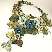 Украшения handmade. Livemaster - original item Dreams Cloud Forest. necklace made of genuine leather and natural stones. Handmade.