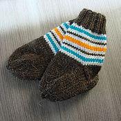 Работы для детей, ручной работы. Ярмарка Мастеров - ручная работа детские полосатые носочки. Handmade.
