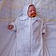 Для новорожденных, ручной работы. Комбинезон-конверт  и чепчик на выписку  для новорожденного. Светлана Чеснокова детская одежда. Ярмарка Мастеров.