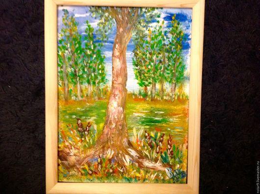 Пейзаж ручной работы. Ярмарка Мастеров - ручная работа. Купить Древо жизни.. Handmade. Оранжевый, купить картину