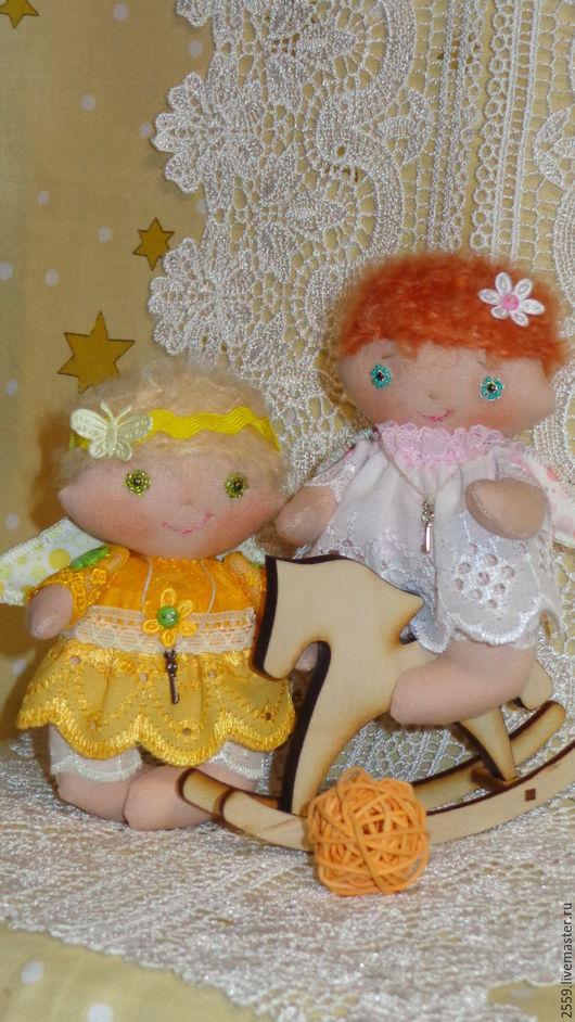 Сказочные персонажи ручной работы. Ярмарка Мастеров - ручная работа. Купить Ангелы малышки. Handmade. Белый, мечта, кружево