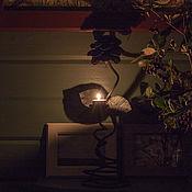 Подсвечники ручной работы. Ярмарка Мастеров - ручная работа Подсвечники: Интерьерный подсвечник угольного оттенка. Handmade.