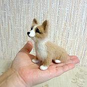 Куклы и игрушки ручной работы. Ярмарка Мастеров - ручная работа Валяная фигурка щенка породы вельш корги пемброк. Handmade.