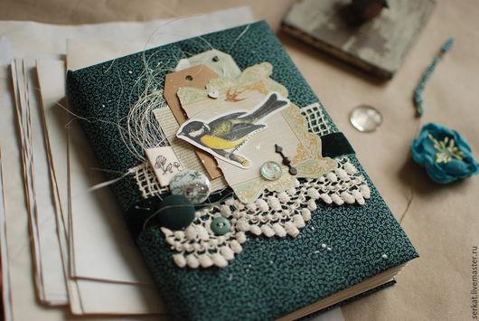 Блокноты ручной работы. Ярмарка Мастеров - ручная работа. Купить «Птичий» блокнот. Handmade. Тёмно-синий, весенний, зеленоград, А5