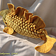 Текстиль, ковры ручной работы. Ярмарка Мастеров - ручная работа. Купить Подушка рыба золотая. Handmade. Желтый, шерсть