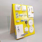 Бизиборды ручной работы. Ярмарка Мастеров - ручная работа Бизиборд двухсторонний Компакт 30х40 см. Handmade.