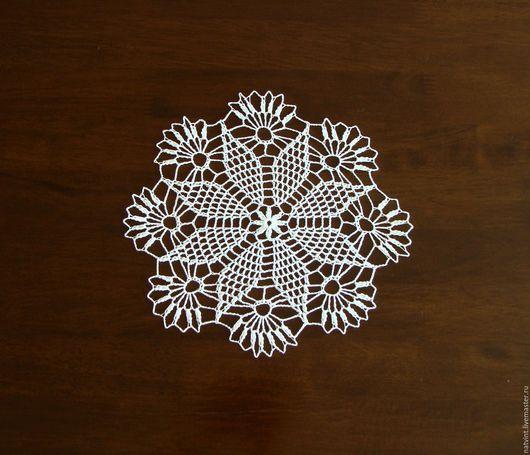 """Винтажные предметы интерьера. Ярмарка Мастеров - ручная работа. Купить Белые салфетки крючком """"Снежинки-2"""", винтаж, Германия. Handmade."""