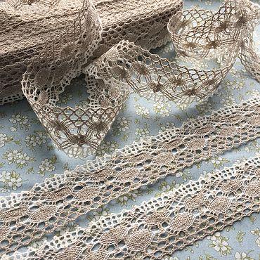 Materials for creativity handmade. Livemaster - original item Lace linen two-tone
