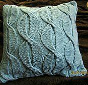 Для дома и интерьера ручной работы. Ярмарка Мастеров - ручная работа Вязанная декоративная подушка. Handmade.