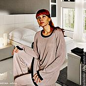 """Одежда ручной работы. Ярмарка Мастеров - ручная работа Вязаный шёлковый пижамный костюм """"Малайский нефрит"""". Handmade."""