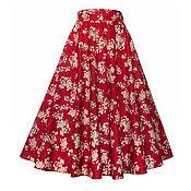 Одежда ручной работы. Ярмарка Мастеров - ручная работа Юбка-солнце Sakura 70 см с карманами. Handmade.