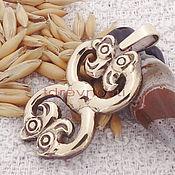 Фен-шуй и эзотерика handmade. Livemaster - original item The double-Headed Scythian grifon2 amulet talisman amulet made of metal. Handmade.