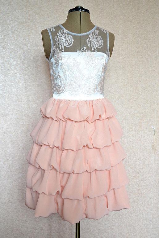 """Платья ручной работы. Ярмарка Мастеров - ручная работа. Купить Платье """"Rose macarons"""".. Handmade. Платье коктейльное, выпускной, кружево"""