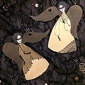 Подарки к праздникам ручной работы. Ярмарка Мастеров - ручная работа Золотая коллекция: ангелы в масках. Handmade.