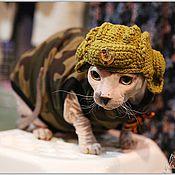 Для домашних животных, ручной работы. Ярмарка Мастеров - ручная работа Шлем танкиста. Handmade.