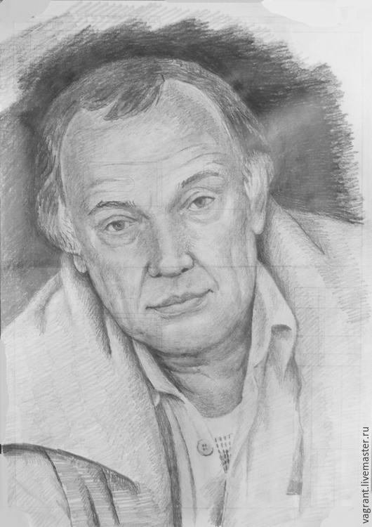Люди, ручной работы. Ярмарка Мастеров - ручная работа. Купить Портрет. Handmade. Серый, рисунок по фото, бумага, карандаш
