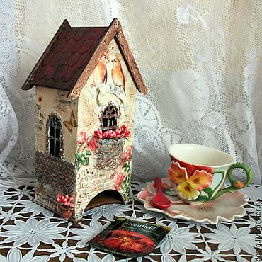 """Для дома и интерьера ручной работы. Ярмарка Мастеров - ручная работа Чайный домик """"Там,где живет любовь"""". Handmade."""
