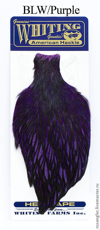 Другие виды рукоделия ручной работы. Ярмарка Мастеров - ручная работа. Купить Перья American Hen Cape BLW/Purple (42801354). Handmade.