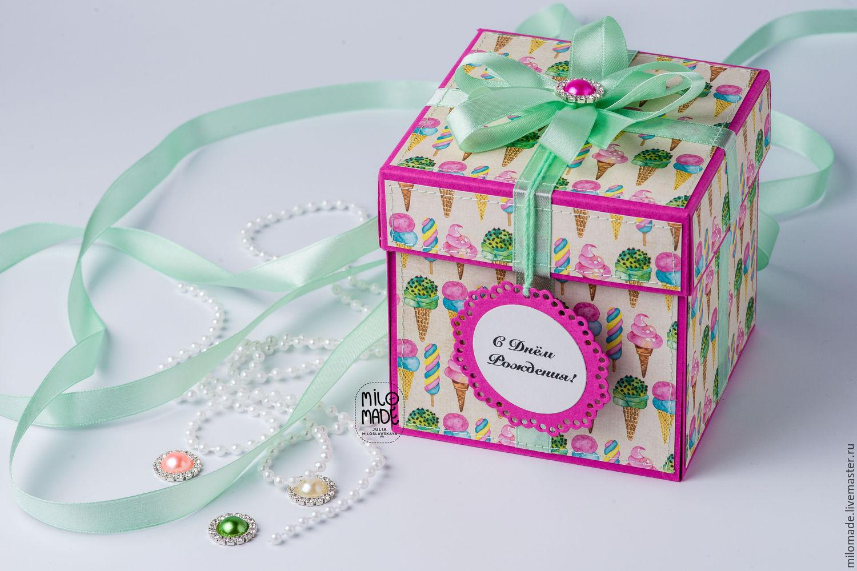 Как сделать подарочную коробку Подарок своими руками 80