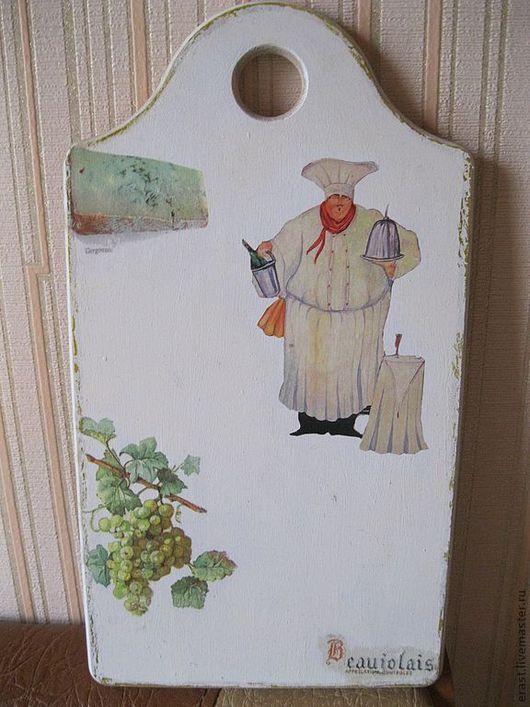 Кухня ручной работы. Ярмарка Мастеров - ручная работа. Купить Доска разделочная Французский повар. Handmade. Кухня, кухонная доска