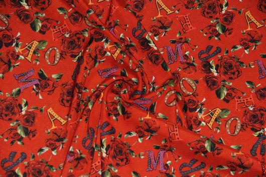Шитье ручной работы. Ярмарка Мастеров - ручная работа. Купить Шелк стрейч Dolce&Gabbana 2015-16. Handmade. Коллекция