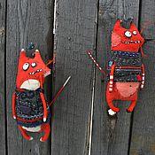 Куклы и игрушки ручной работы. Ярмарка Мастеров - ручная работа Котолис и Лисокошка. Handmade.
