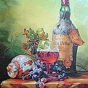 """Картины ручной работы. Ярмарка Мастеров - ручная работа Картина маслом """"Старое вино"""".. Handmade."""