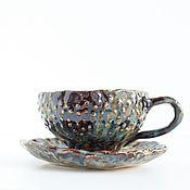 Посуда ручной работы. Ярмарка Мастеров - ручная работа Чайная пара Исландия. Handmade.