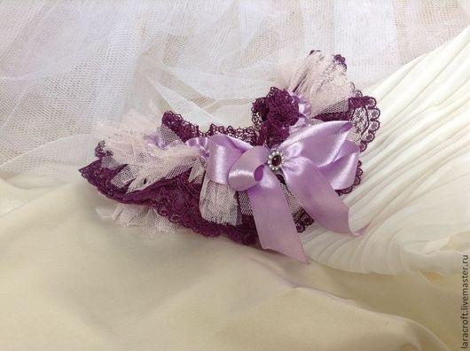 """Одежда и аксессуары ручной работы. Ярмарка Мастеров - ручная работа. Купить Подвязка """"Purple Buff"""". Handmade. Фиолетовый, купить подвязку"""