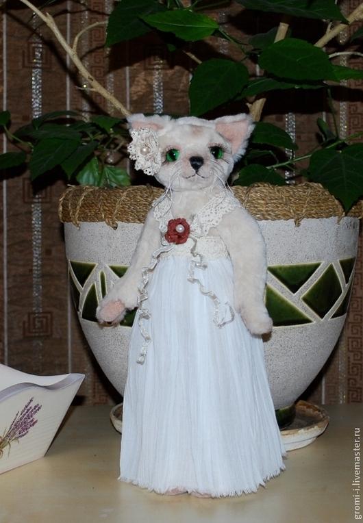 Мишки Тедди ручной работы. Ярмарка Мастеров - ручная работа. Купить Кошка Мэри. Handmade. Белый, кошка в подарок