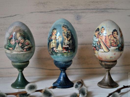 Подарки на Пасху ручной работы. Ярмарка Мастеров - ручная работа. Купить Пасхальное деревянное яйцо на подставке ( 6 см). Handmade.