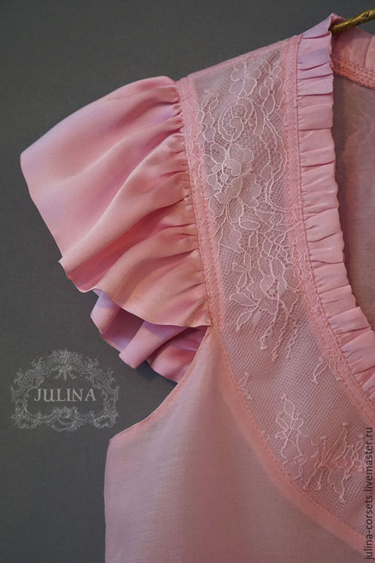 """Блузки ручной работы. Ярмарка Мастеров - ручная работа. Купить Блузка шелковая """"Ягодный зефир"""". Handmade. Бледно-розовый"""
