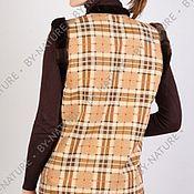 """Одежда ручной работы. Ярмарка Мастеров - ручная работа жилет из овчины """"Шотландка"""". Handmade."""