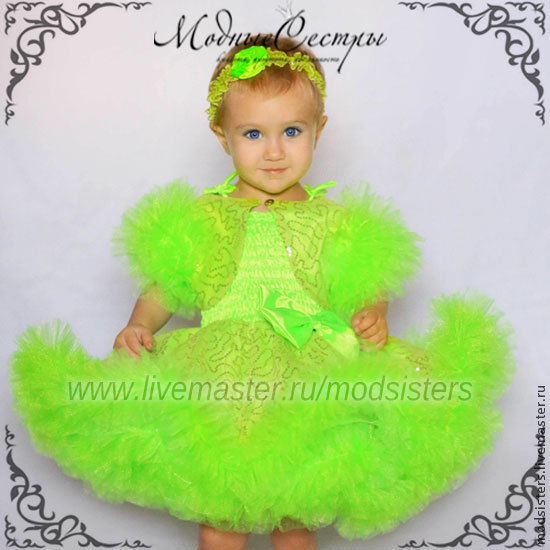 Bolero with puffy sleeves (green) Art.139, Childrens vest, Nizhny Novgorod,  Фото №1