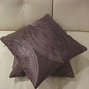 Для дома и интерьера ручной работы. Ярмарка Мастеров - ручная работа декоративные подушки- фиолетовый комплект. Handmade.