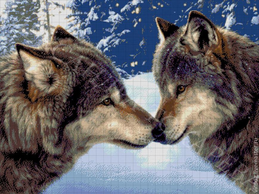 Купить набор для вышивки волки
