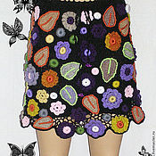 """Одежда ручной работы. Ярмарка Мастеров - ручная работа Вязаная юбка """"Цветочный ветер"""". Handmade."""