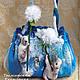 Женские сумки ручной работы. Полет на одуванчиках. Екатерина Тасминская. Ярмарка Мастеров. Облака