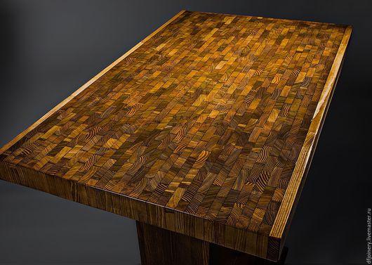 Мебель ручной работы. Ярмарка Мастеров - ручная работа. Купить Обеденный стол из дерева «Мозаика» №1. Handmade. Стол, массив