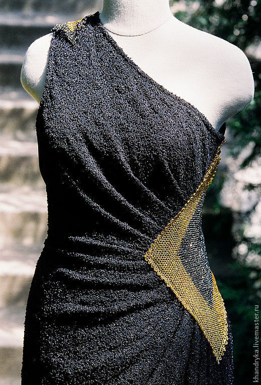 Платья ручной работы. Ярмарка Мастеров - ручная работа. Купить Платье вечернее черное Лунный Свет. Handmade. Платье