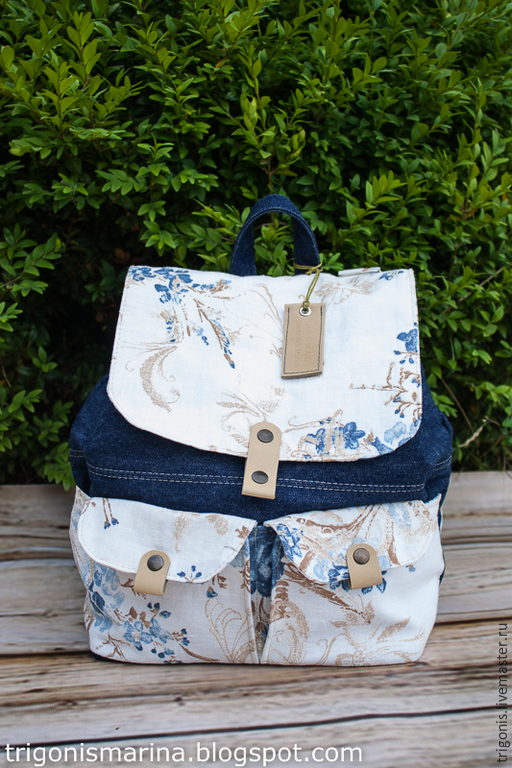 """Рюкзаки ручной работы. Ярмарка Мастеров - ручная работа. Купить Рюкзак """"Джинсовая гармония"""". Handmade. Разноцветный, рюкзак для города"""