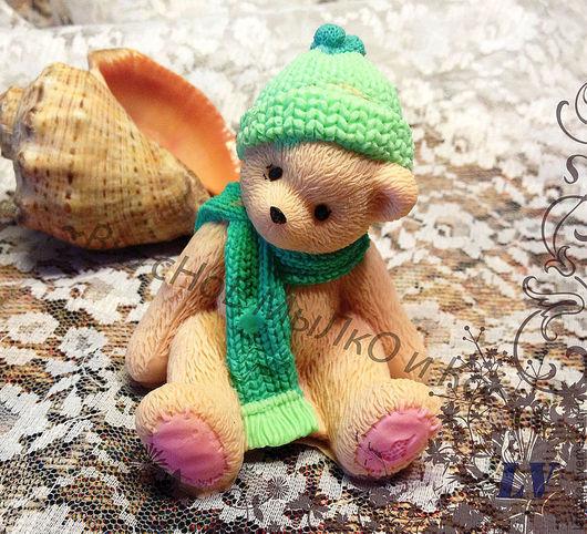 """Мыло ручной работы. Ярмарка Мастеров - ручная работа. Купить Мыло для рук """"Тедди в шапке и шарфе"""". Handmade. Cherished teddy"""
