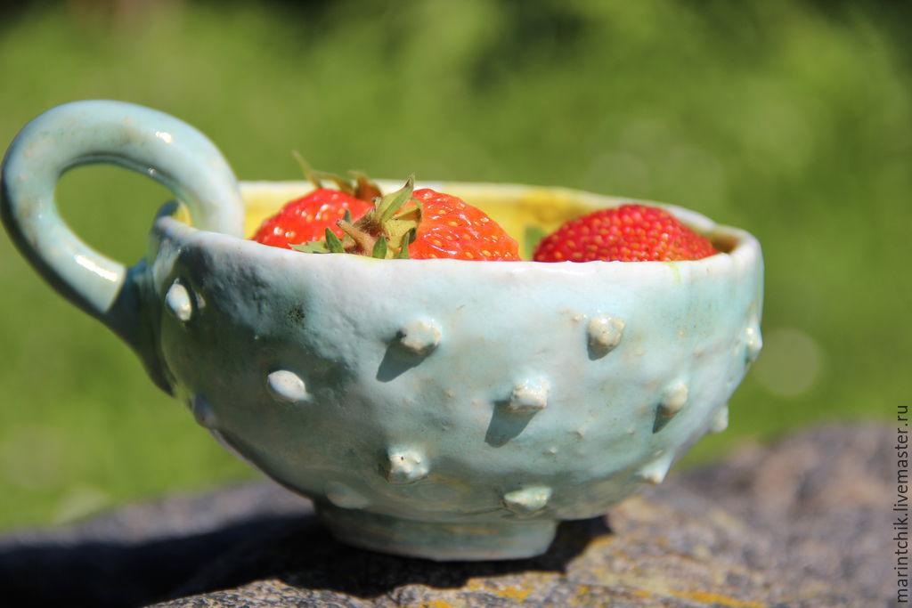 Кружки и чашки ручной работы. Ярмарка Мастеров - ручная работа. Купить Чашка Солнечный день. Handmade. Керамика, желтый, глина